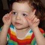 Een voorbeeld van gebarentaal